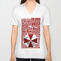 resident evil V-neck T-shirts featuring Resident Evil Story... by Rosso