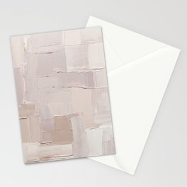 Oyster Pink Mix Abstract Painting Stationery Cards