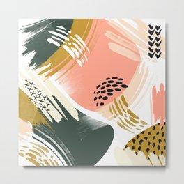 Brushstrokes abstract art II Metal Print
