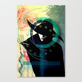 Mrs. Black Canvas Print