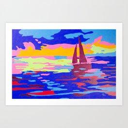Evening Sail Art Print