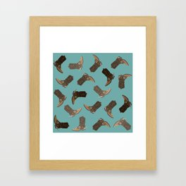 Cowboy Boots - pattern Framed Art Print