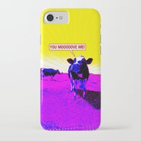 cows iPhone & iPod Cases featuring Psychedelic Cows by Peter Gross