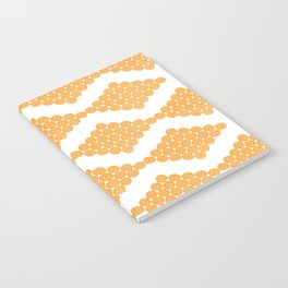 Orange Floral Doily Pattern Notebook