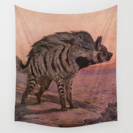 Vintage Hyena Painting (1909) Wall Tapestry