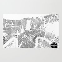 new orleans Area & Throw Rugs featuring NEW ORLEANS by Maps Factory