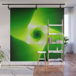 Infinite Lime Abstract Wall Mural