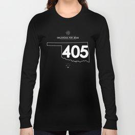 Oklahoma for Jesus 405 - White ink Long Sleeve T-shirt