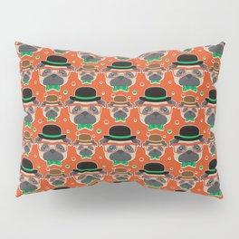 Hipster Pug Pattern Pillow Sham