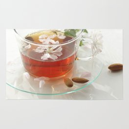 Almond blossom tea freshly cooked Rug