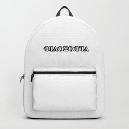 Philosophy in Greek letters Backpack