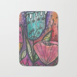 They live under flowers Bath Mat