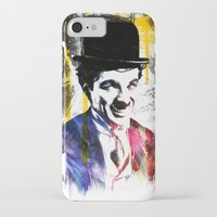charlie chaplin iPhone & iPod Cases featuring charlie chaplin by manish mansinh