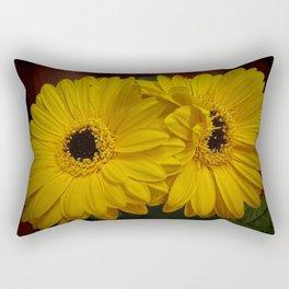 Yellow African Daisy at Barthel's Farm Market Rectangular Pillow