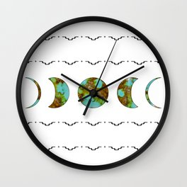 Aztec Moon Wall Clock