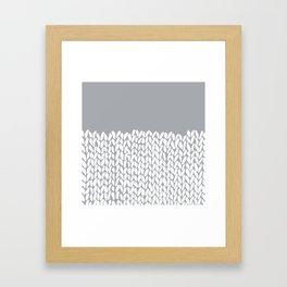 Half Knit Grey Framed Art Print