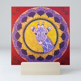 Compassion - Giraffe Mandala Mini Art Print