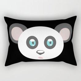 cute panda bear head, teddy, panda Rectangular Pillow