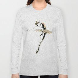 Ballet Dance Drawing Long Sleeve T-shirt