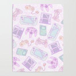 Gamer Girl Pattern Poster