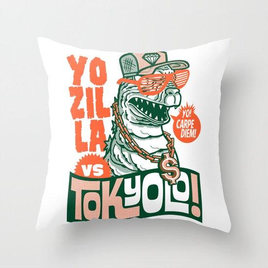 Tokyolo (YOZILLA variant) Throw Pillow
