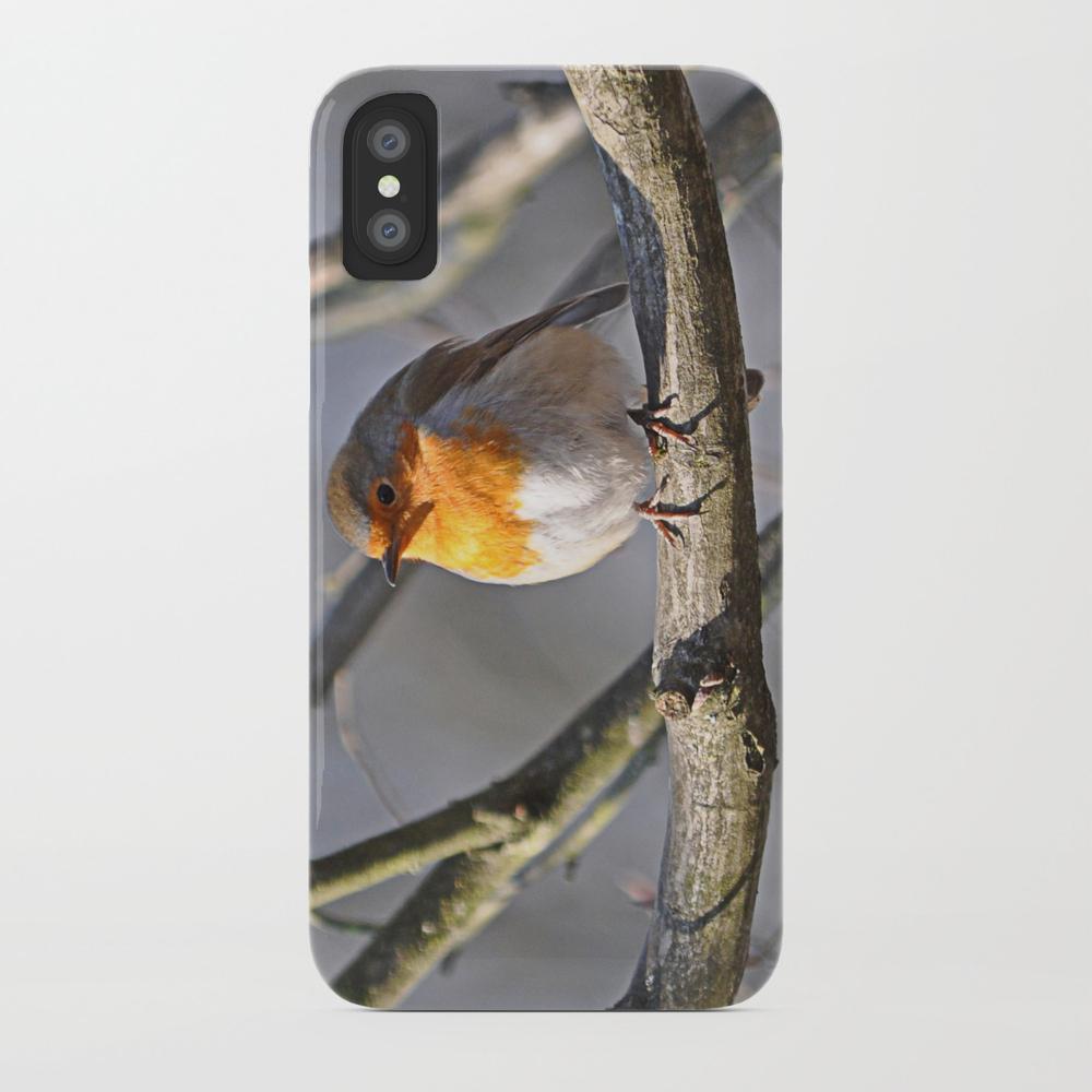 Fluffy Robin Redbreast Phone Case by Pirminnohr (PCS915575) photo