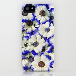 White and Blue Daisies II iPhone Case