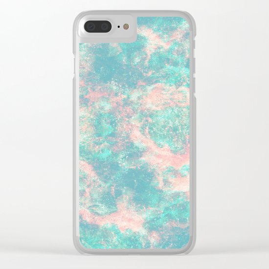 Ocean Foam Clear iPhone Case