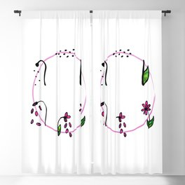 Flower Cycle Blackout Curtain
