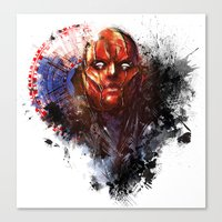 red hood Canvas Prints featuring Red Hood by Vincent Vernacatola
