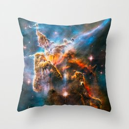 Carina Nebula, Galaxy Background, Universe Large Print, Space Wall Art Decor, Deep Space Poster Throw Pillow