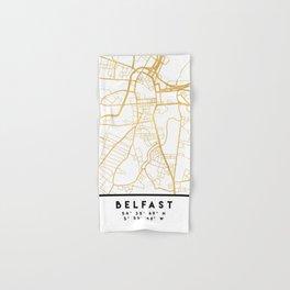 BELFAST UNITED KINGDOM CITY STREET MAP ART Hand & Bath Towel