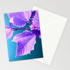 purple wine leaf Stationery Cards