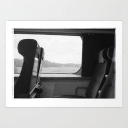 A train ride Art Print