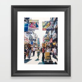 Streets of the Market, Colombo, Sri Lanka Framed Art Print
