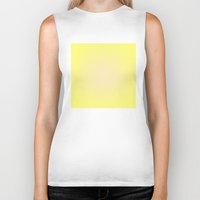 yellow pattern Biker Tanks featuring Yellow by Mr and Mrs Quirynen