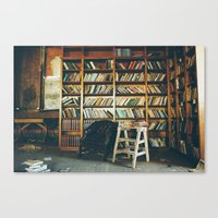 library Canvas Prints featuring Library by dekko
