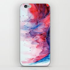 Watercolor magenta & cyan, abstract texture iPhone Skin