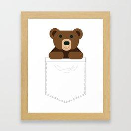 Pocket Bear Partner Framed Art Print