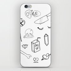 creepy cute witchy pattern iPhone & iPod Skin