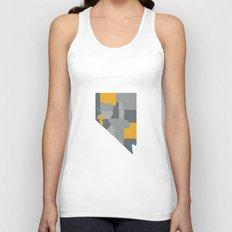 Nevada State Map Print Unisex Tank Top