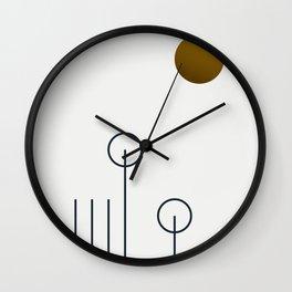 Soir 04 //  ABSTRACT GEOMETRY MINIMALIST ILLUSTRATION Wall Clock