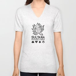 Sultana Playing Cards: Lotus Unisex V-Neck