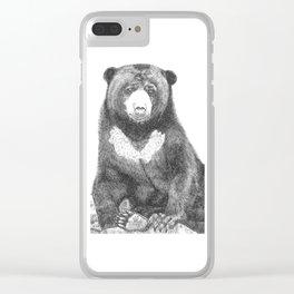 Malayan Sun Bear (Beruang Madu) Clear iPhone Case