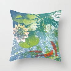 Fish pool  Throw Pillow