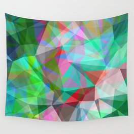 green crystal depth Wall Tapestry