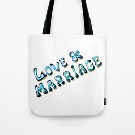 Love and Marriage Vector art Tote Bag