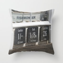 Fishmongers Throw Pillow