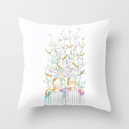 Young plants (Jeunes pousses) Throw Pillow