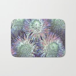 Artfully abstract blooming ice flowers Bath Mat